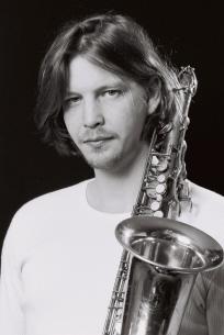 Mattias Carlson, saxofonist i Anders Nilsson's Aorta Foto: Maria Rolin
