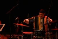 Michael Evans, percussionist in Anders Nilsson's AORTA Ensemble.  Photo: Ninja Agborn