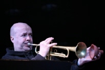 Magnus Broo, trumpet in the Relay Orchestra