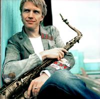 Fredrik Lundin, saxofonist i Peter Danemo Kapell Foto: Nicola Fasano